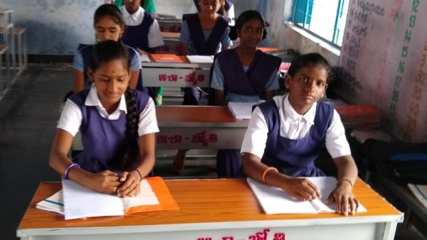 Benches and desks to school children